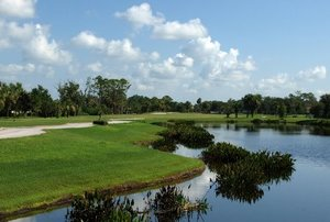 View of a pond on the course at The Preserve Golf Club
