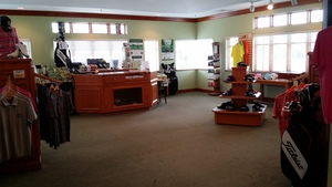 Interior shot of the pro shop at The Preserve